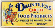 Dauntless Coffee Roman Sign