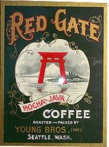 Red Gate Seattle Coffee Sign