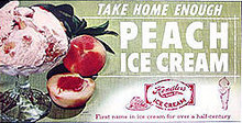 Hendler's Peach Ice Cream Sign