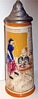 Ceramic Beer Stein Lidded