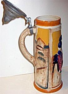 Ceramic Beer Stein Lidded
