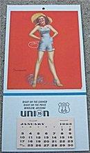 old vintage 1965 UNION GAS pinup CALENDAR