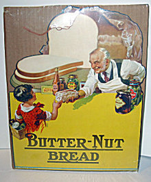 Butter-nut Bread Store Display Sign