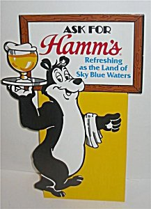 Hamms Bear Beer Sign