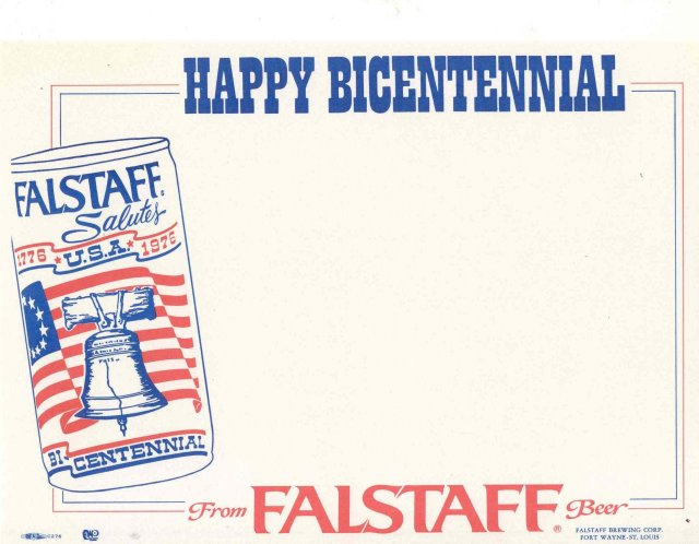 Falstaff Beer Sign - Bicentennial