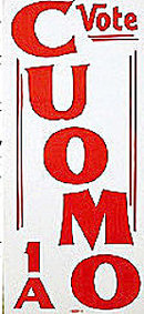 Mario Cuomo NY Governor Poster