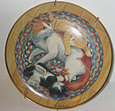 Franklin Mint Snug-on-a-Rug Collector Cat Plate