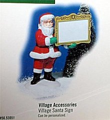 New  Village Accessories SANTA CLAUS figure