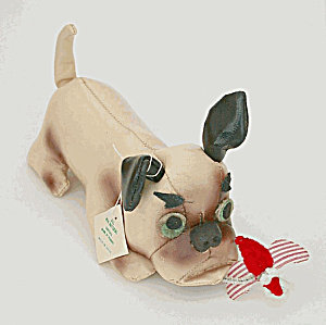 Leatherette Bulldog Autograph Hound Toy