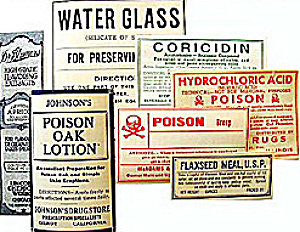 Medicine Poison Labels
