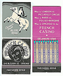 Chicago French Casino Matchbooks