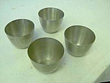 4 old vintage Pewter Jefferson Cups ~ Bolivia