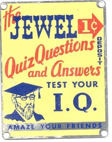 Fortune Teller Sign - Professor IQ 1950s