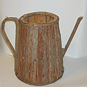 Wood Watering Can Store Display