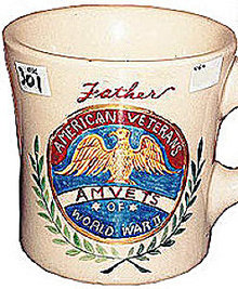 American Veterans Pottery Mug - WW2