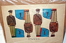 WW2 Army General Paper Doll Toys