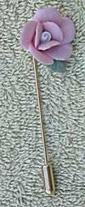 Ceramic Rose Stick Pin