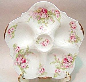 Elite Limoges Floral Oyster Plate