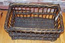 English Wool Wicker Sample Basket ~ storage