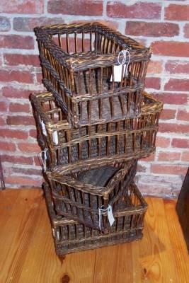English Wool Wicker Sample Basket ~ storage