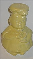 Ceramic Chef Salt Shaker ~ butter yellow