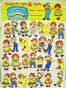 Raggedy Ann Andy Sticker Display