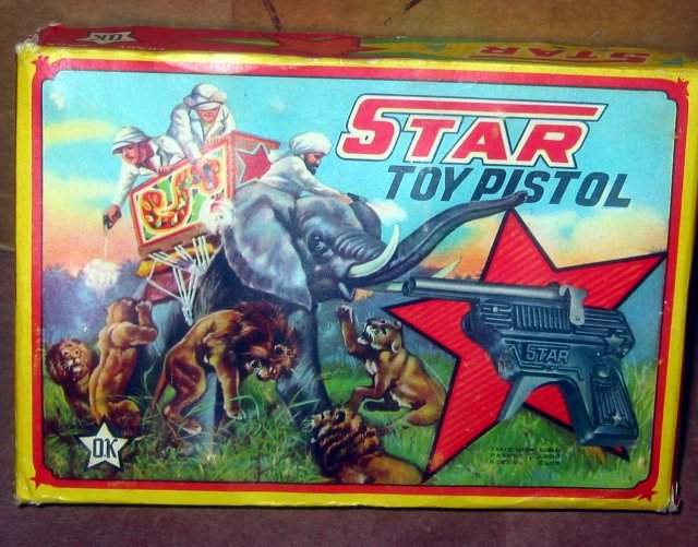 Star Pistol Toy Gun Display