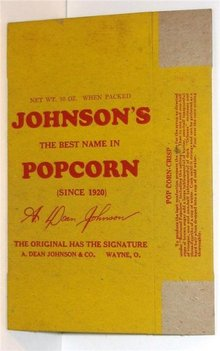 Johnson Popcorn Boxes