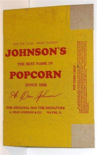 Johnson Popcorn Boxes