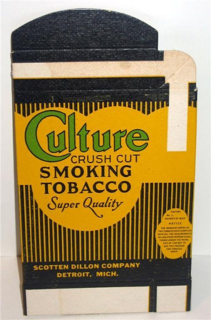 Culture Tobacco Box 1940s
