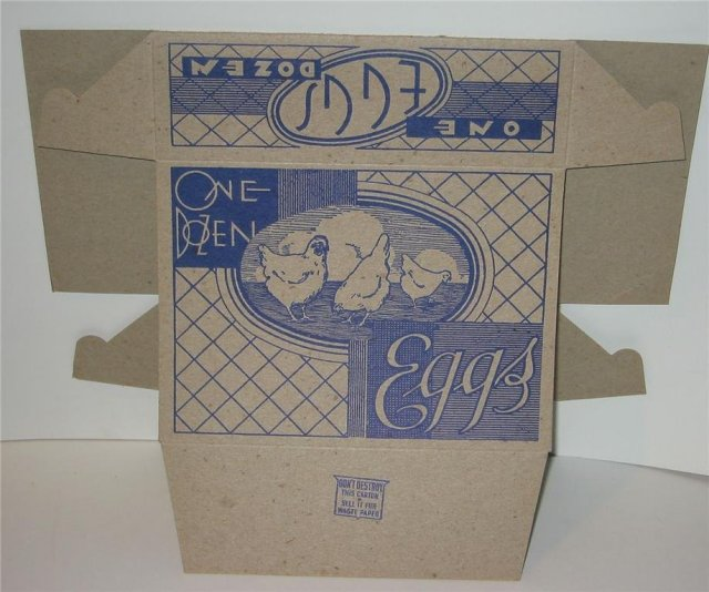 Egg Chicken Box 1950s