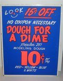 Modeling Dough Clay Store sign
