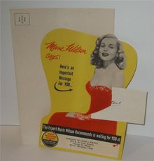 Marie Wilson Sylvania Radio TV Card
