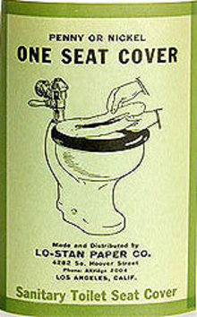 Toilet Seat Label 1928
