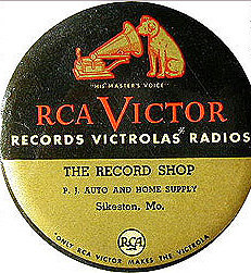 RCA Record Duster Celluloid Tin