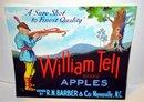 William Tell Apple Crate label ~ 1940s