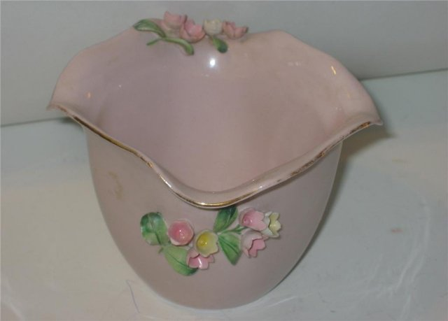 Pink Rose Pottery Bowl