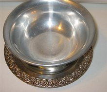 Silver Serving Bowl Engraved