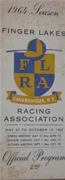Finger Lakes Racing Program 1964