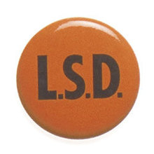 L.S.D. Pinback Pin Button 1960s