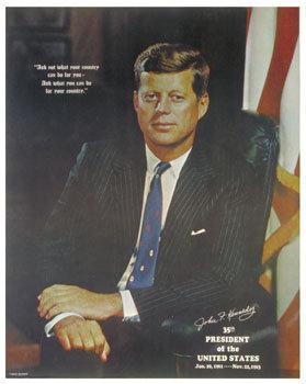 JFK Kennedy Memorial Poster