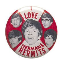 Herman's Hermits Pinback Pin