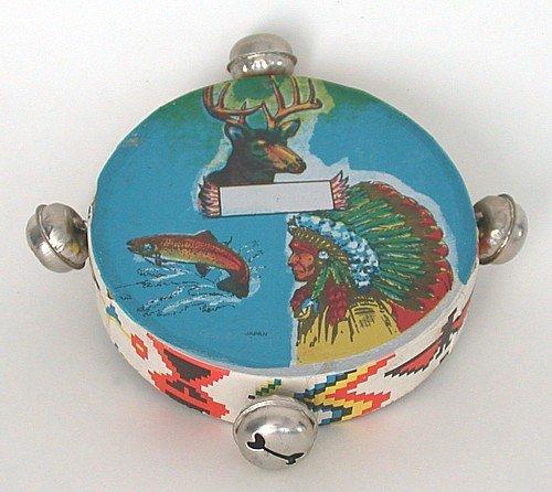 Indian Lake Tamborine Tomahawk & Peace Pipe Toys 1950s