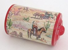 Celluloid Western Roll Toy