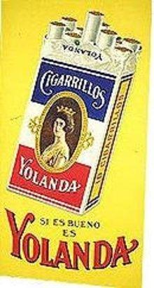 Yolanda Cigarillos Store Sign Poster
