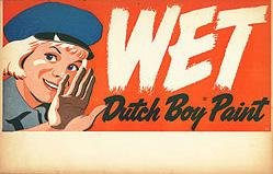 Dutch Boy Wet Paint sign
