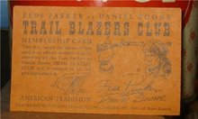 Fess Parker Daniel Boone Trailblazer Card