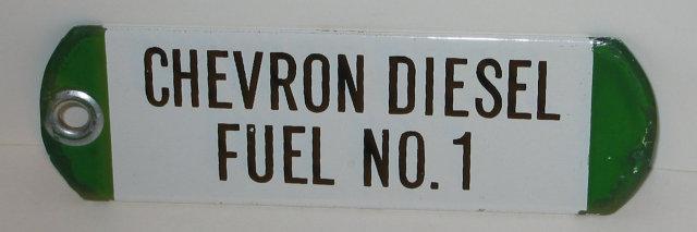 Chevron Gas Porcelain Sign