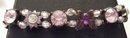 Beaded Lavendar Stone Butterfly bracelet