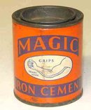 Magic Iron Cement Tin